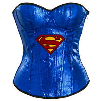 Adult Sequin Supergirl Corset - Superman