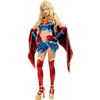Adult Anime Supergirl Costume - Superman