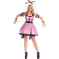 Adult Pink Marionette Costume Plus Size