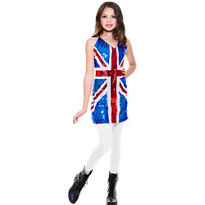Girls Sequin British Costume