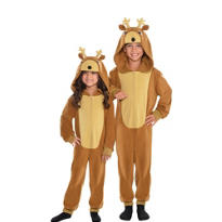 Child Reindeer One Piece Pajamas