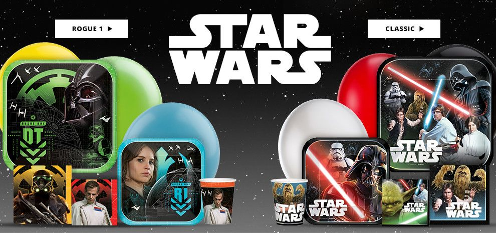 Starwars Birthday Party Supplies Shop Now