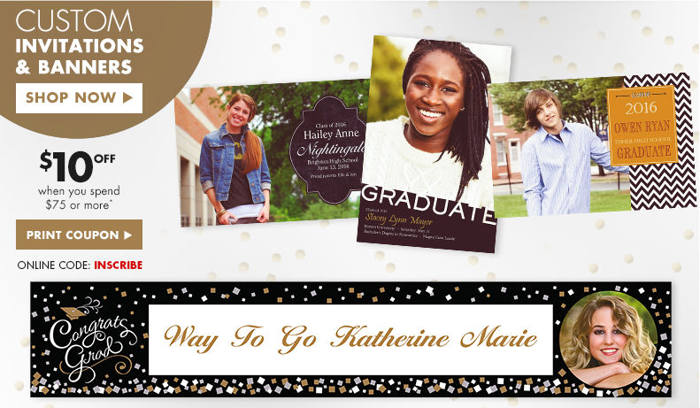 Custom Graduation Invitations and Banners
