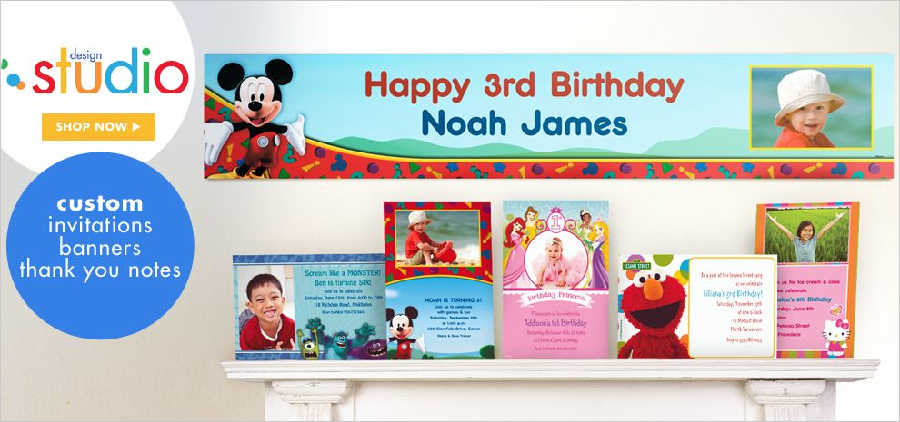 Custom Invitations and Banners