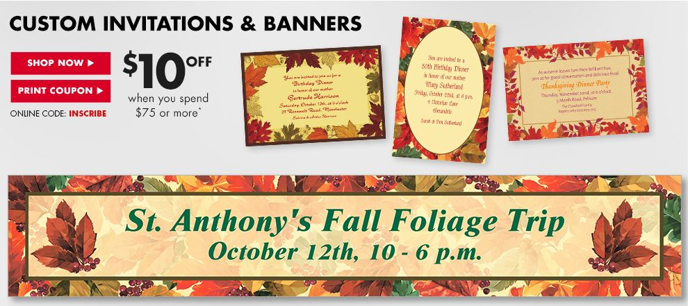 Custom Invitations & Banners