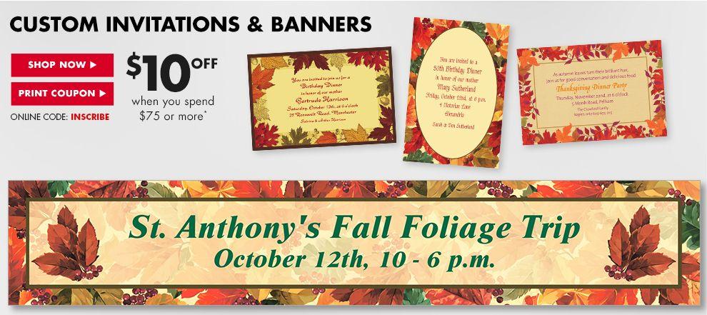 Custom Invitations & Banners