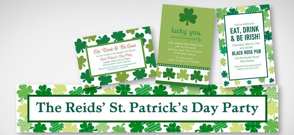 St. Patrick's Day Invitations & Banners