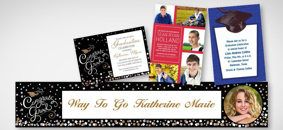 Graduation Invitations & Banners