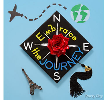 DIY Duct Tape Grad Cap Decorating Idea