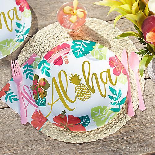 Aloha Place Setting Idea