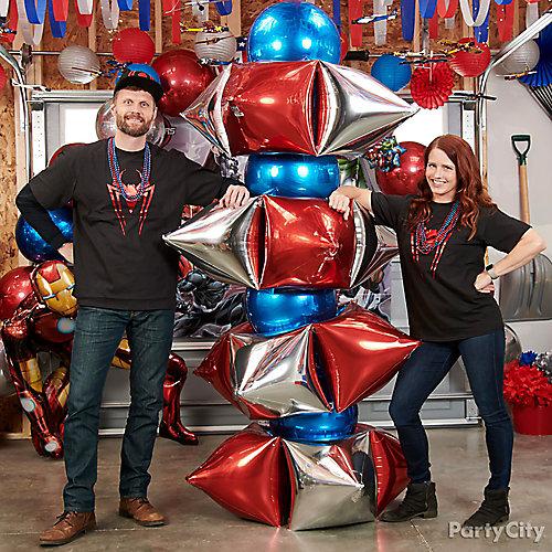 Avengers Orbz Balloon Tower Idea