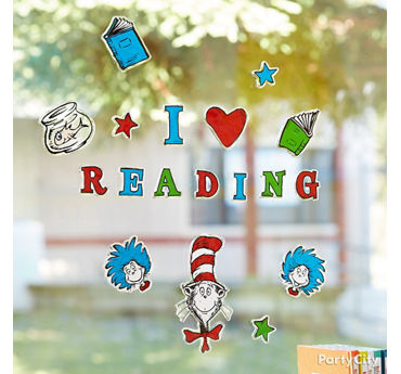 Dr. Seuss Window Cling Idea