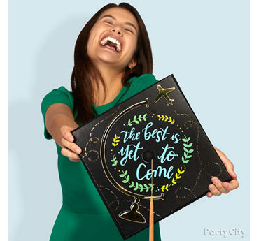 Free Spirited Grad Cap Decorating Idea