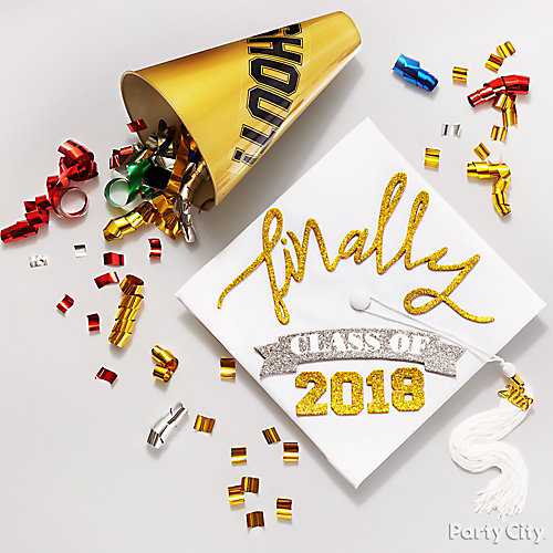 Finally Graduating Grad Cap Decorating Idea