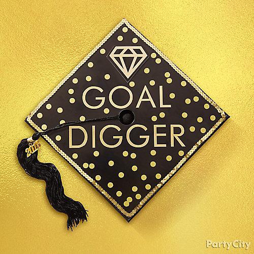 Goal Digger Grad Cap Decorating Idea