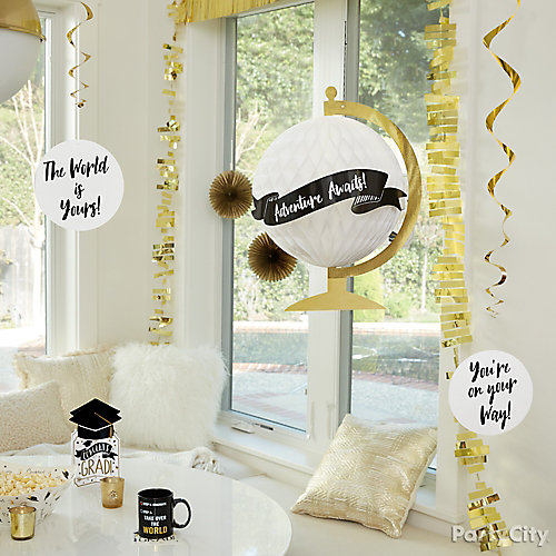 Grad Party Hanging Decorations Idea