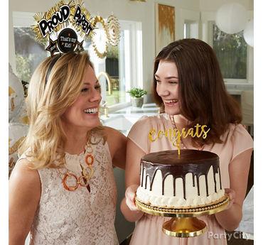 Graduation Drip Chocolate Cake Idea