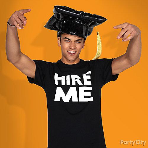 Graduation Hire Me T-Shirt Photo Idea
