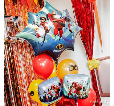 Incredibles Balloon Bouquet Idea