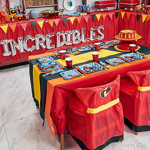 Incredibles Party Table Idea