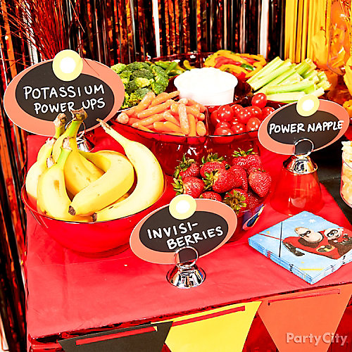 Incredibles Snack Buffet Ideas