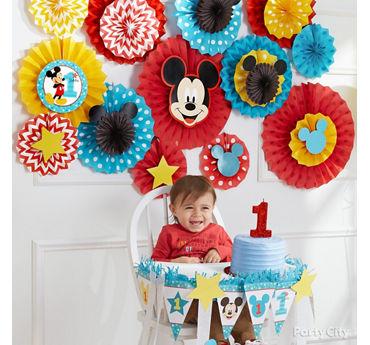 Mickey First Birthday Fan Decorating Idea