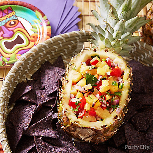 Pineapple Boat and Salsa Idea