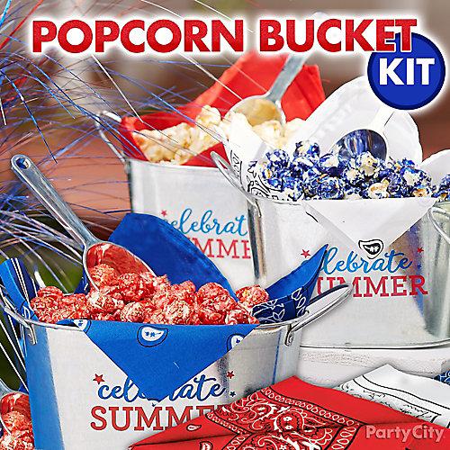 4th of July Block Party Popcorn Treat Idea