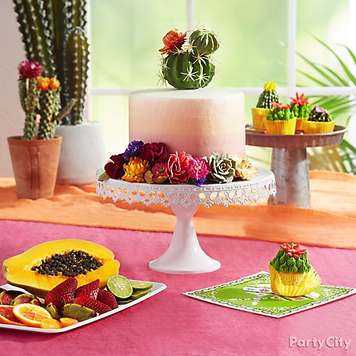 Prickly Party Cactus Cake Idea