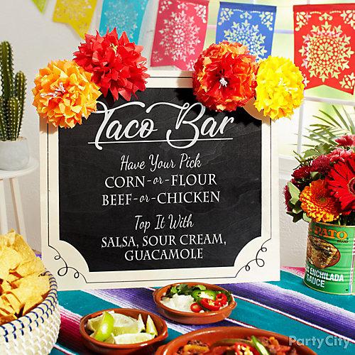 Taco Bar DIY Menu Sign