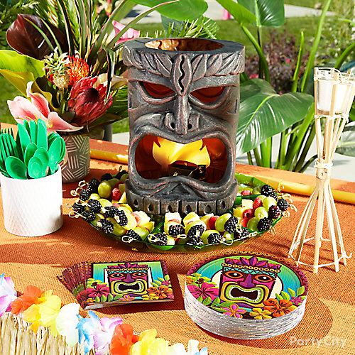 Tiki Fruit Plate Idea