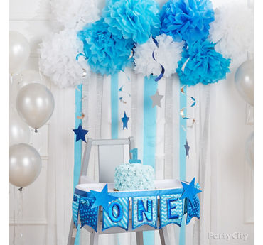 Twinkle Boy First Birthday Highchair Idea