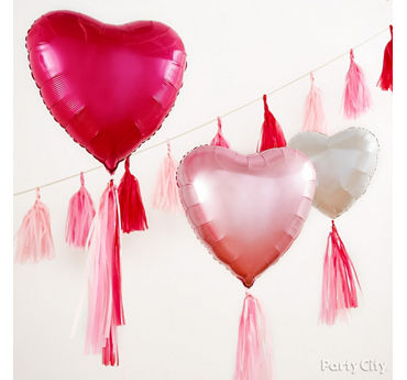 Balloon Tassel Backdrop Idea