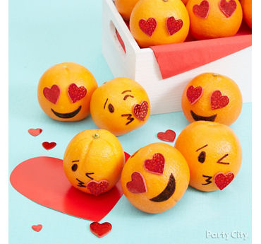 Smiley Valentines Party Healthy Treat Idea