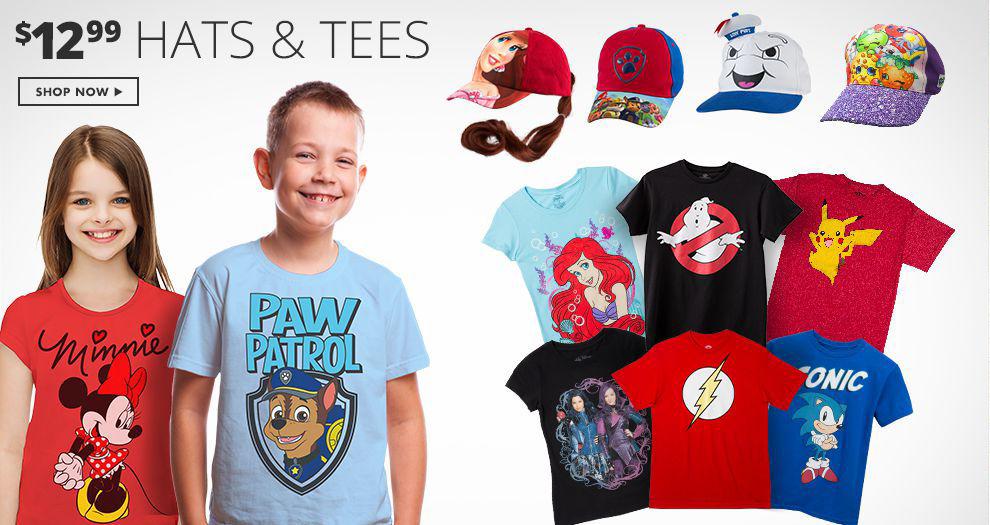 $12.99 Hats & Tees