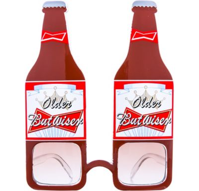 2 Novelty Beer Bottle /& Mug Shaped Sunglasses Funny Party Costume Props