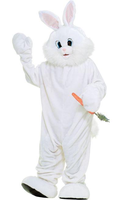 adult deluxe white bunny rabbit mascot costume