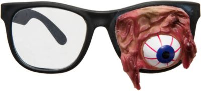 Halloween Eerie Zombie Eyeglasses Glasses Cardboard Party Favors Supply Gory NEW