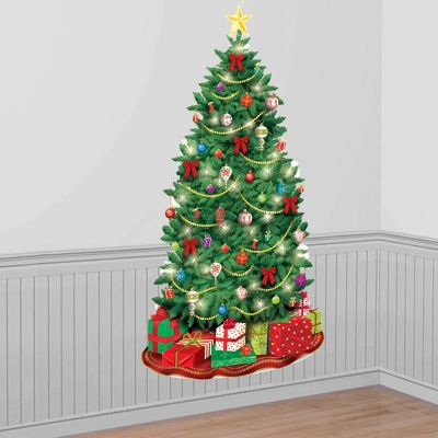 classic christmas tree scene setter party city