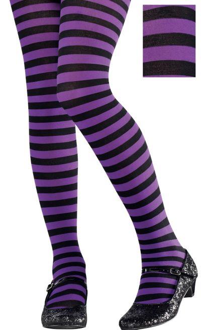 Argyle Tights Ladies 10-14 purple grey black