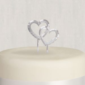 double heart wedding cake toppers wedding cake topper 5 3 16in x 5in city 13707