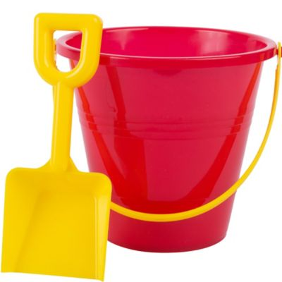Red Beach Pail 5in With Shovel Party City