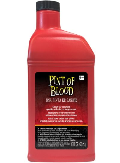 Pint Of Fake Blood 1pt Party City