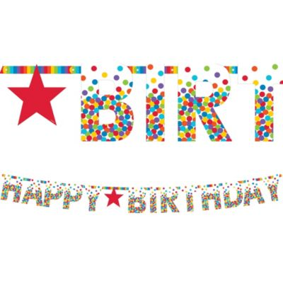 happy birthday letter banner rainbow happy birthday letter banner 11ft city 8105