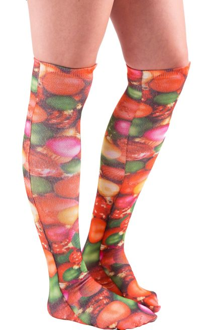Christmas Ornament Knee-High Socks 25in | Party City