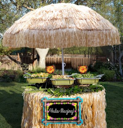 What Time Does Discount Tire Close >> Tiki Bar Buffet Table Kit | Tropical Tiki Party Supplies ...
