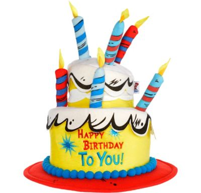 Groovy Deluxe Dr Seuss Birthday Cake Hat 12In X 13 1 2In Party City Funny Birthday Cards Online Aboleapandamsfinfo