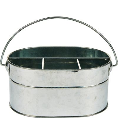 Red Gingham Picnic Party Galvanised Chalkboard Bucket x 3