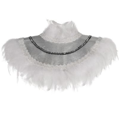 white feather collar