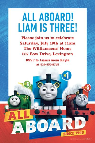 Custom Thomas The Train Invitations Party City